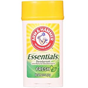 ARM & HAMMER Essentials Natural Deodorant, Fresh 2.5 oz (Pack of 3)