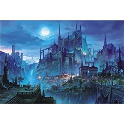 1000 Piece Fantasy Castle Paper Puzzle- Adults Games Toy Paper Jigsaw Puzzles: Toys & Games