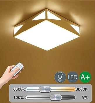 ♪ ® Luz de techo LED moderna Iluminación de techo regulable ...