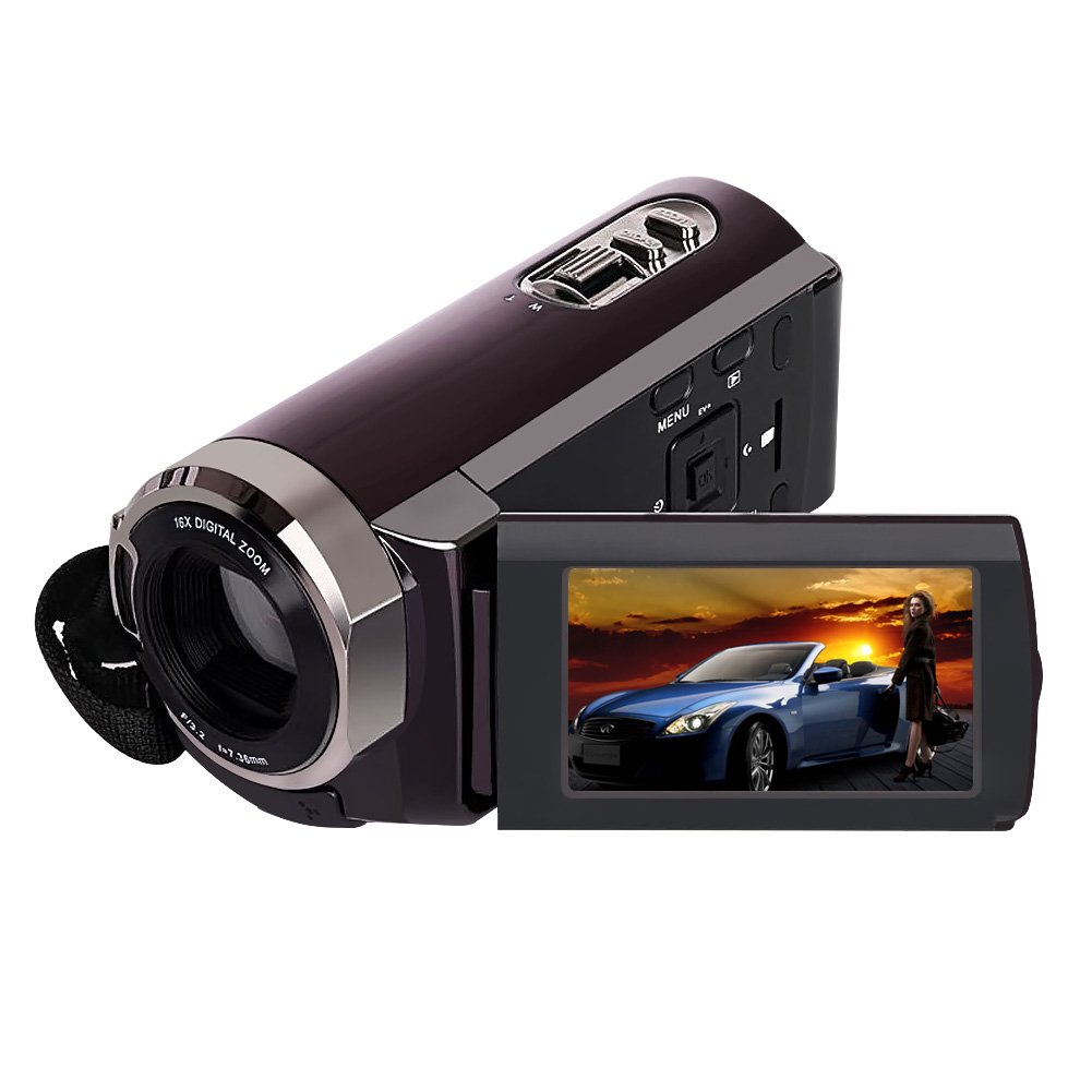 Camorder Video Camera SEREE Full HD 1080p Digital Video Recorder 20MP 16X Zoom 3 Inch Touch Screen Dual Memory Cards