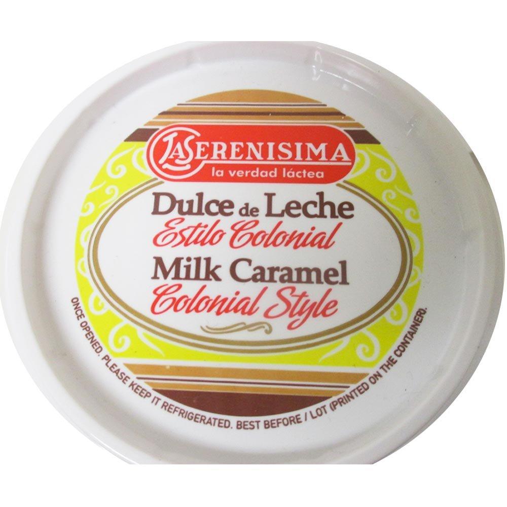 Amazon.com : 1 La Serenisima Dulce De Leche Jar 400g 14oz Milk Caramel Spread Arequipe Cajeta : Grocery & Gourmet Food