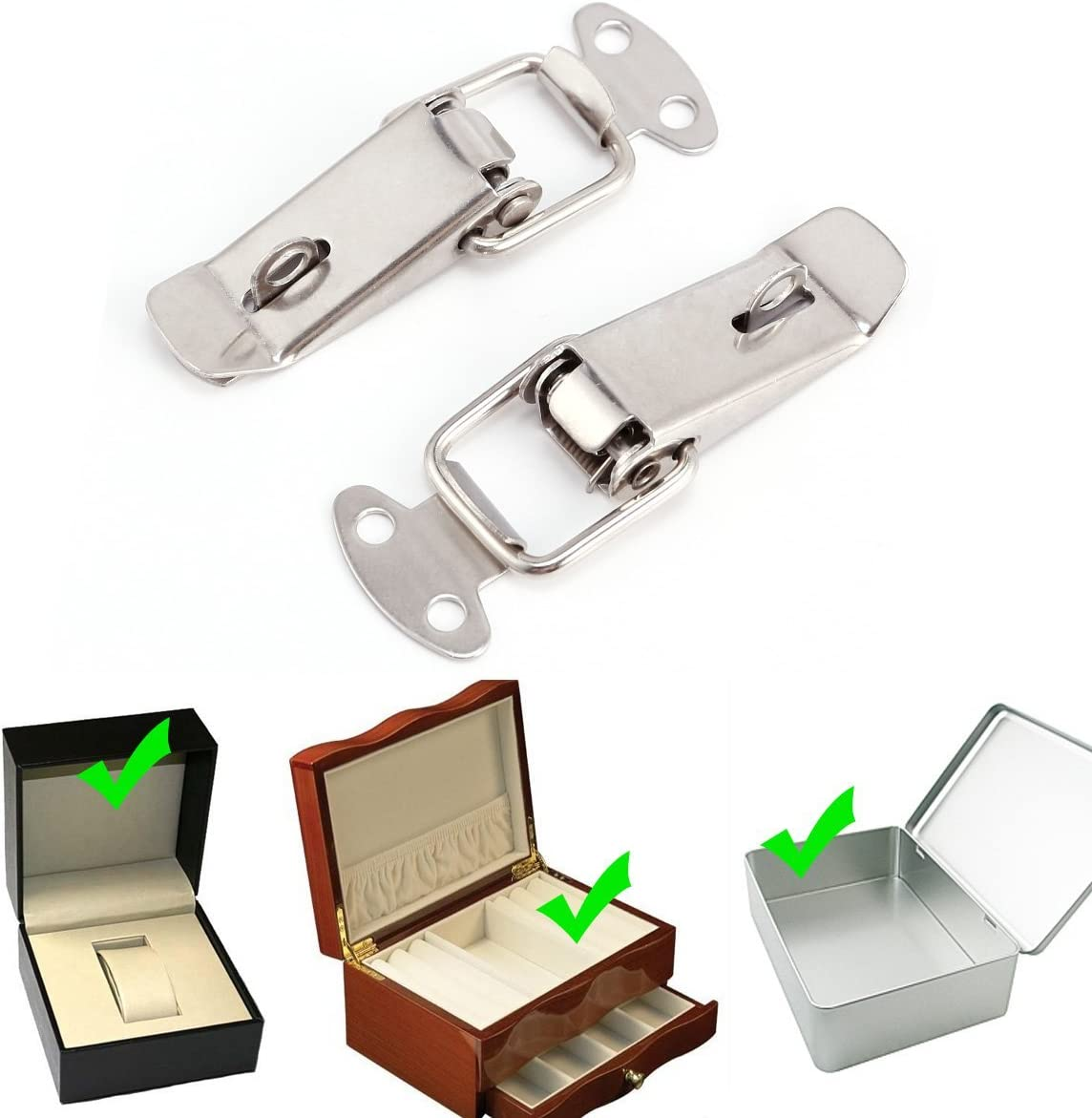 2/x KOFFER Fall Box Chest Spring Edelstahl Tone Lock Toggle Latch Fang Schlie/ße
