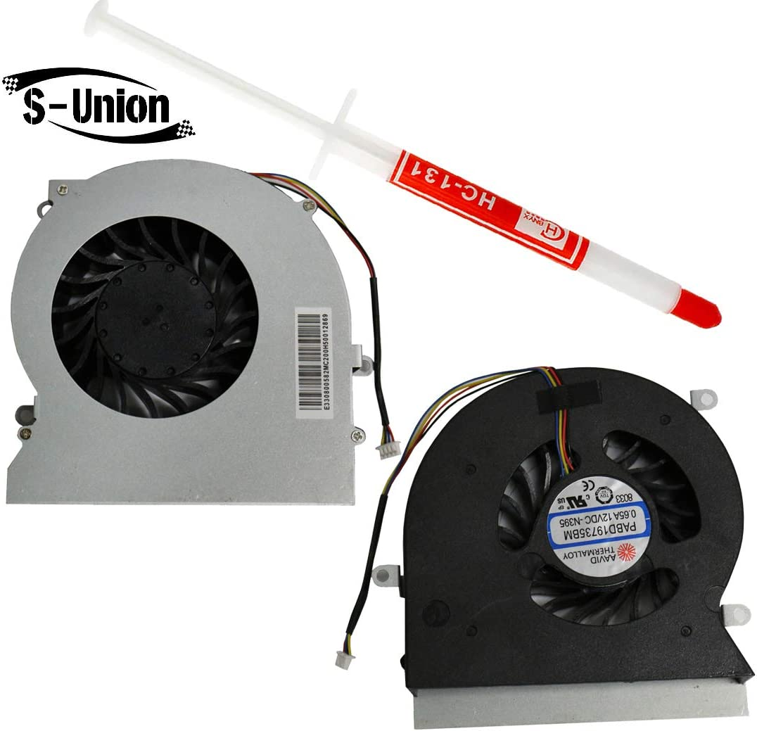 S-Union Replacement CPU Cooling Fan for MSI GT62 GT62VR 6RD 6RE 7RE MS-16L1 L2 L3 Compatible Part Number: PABD19735BM-N395 PABD19735BM-N322