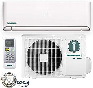 Innovair Air Conditioner Inverter Ductless Wall Mount Mini Split System Heat Pump Full Set with Kit (18000 BTU 208~230V Heat Pump)