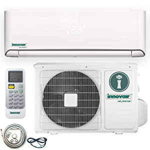 Innovair Air Conditioner Inverter Ductless Wall Mount Mini Split System Heat Pump Full Set with Kit (18000 BTU 208~230V Heat Pump)