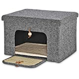 Cheap You&Me Gray Cat Scratcher Hideaway, 16.8 in