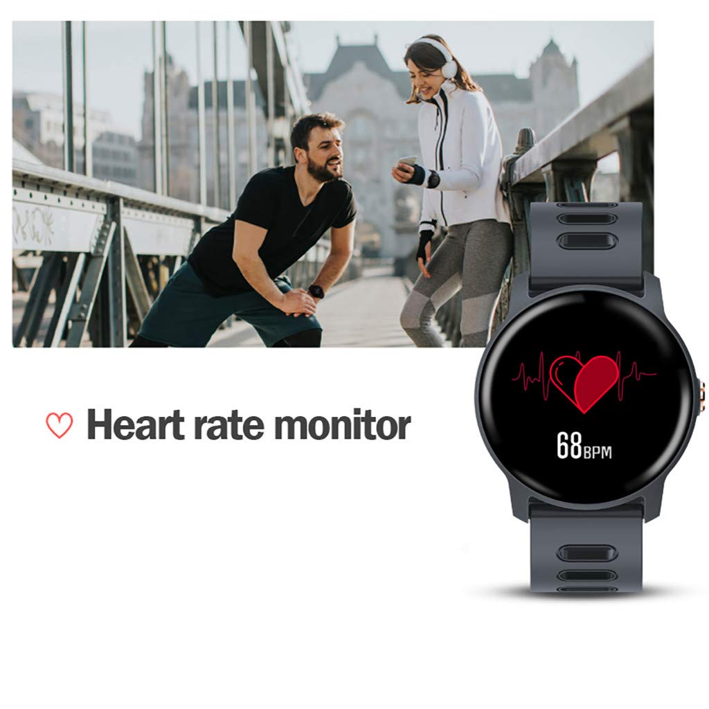 For Android & iOS, Waterproof Sport Smart Watch Fitness Heart Rate Tracker Blood Pressure Calorie Monitor Smart Bracelet (Blue) by YNAA (Image #5)
