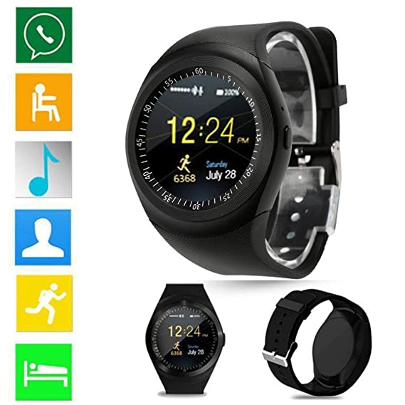 Vovomay 2018 Bluetooth Smart Watch,Phone Mate Full Round Screen SIM For Android For IOS