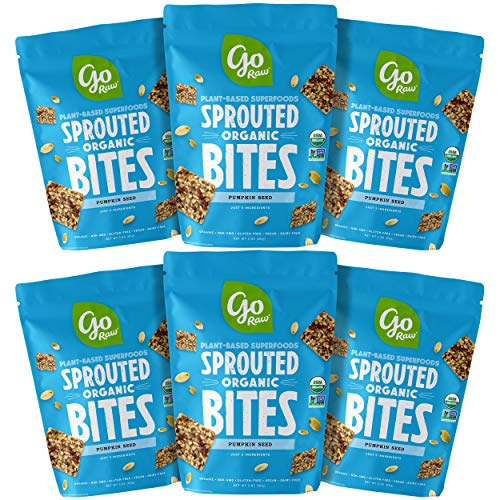 Go Raw Pumpkin Seed Organic Sprouted Bites | Organic | Gluten Free | Vegan | Superfood (Pack of ()