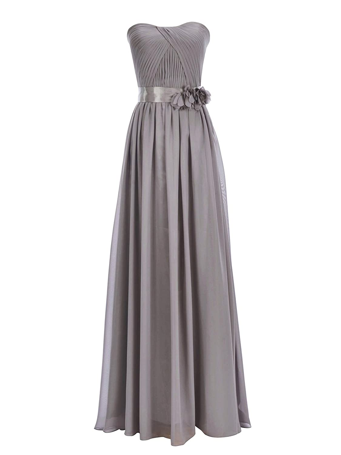 Remedios Chiffon Bridesmaid Dress Evening Wedding Party Dress Long Prom Gown