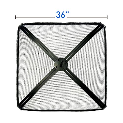(EasyGo 36 inch Square FIRE Screen – FIRE Pit Cover – FIRE Screen Protector)