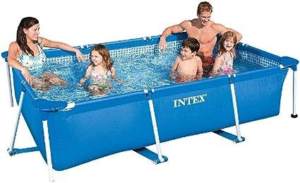 Amazon Com Intex 86 X 23 Rectangular Frame Above Ground Outdoor Child Safe Splash Swimming Pool Garden Outdoor