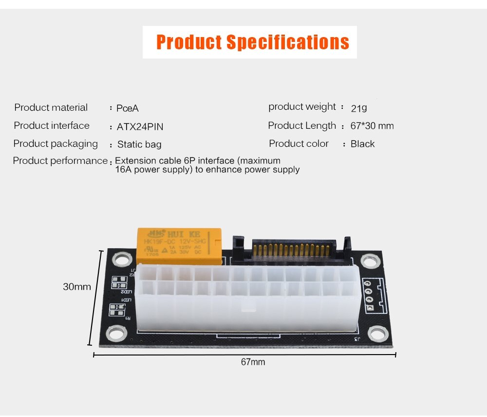 Multiple Psu Power Supply Adapterupgraded Version Atx Wiring Diagram Add2psu 24pin To Sata Dual Sync Starter Extender Card For Btc Miner
