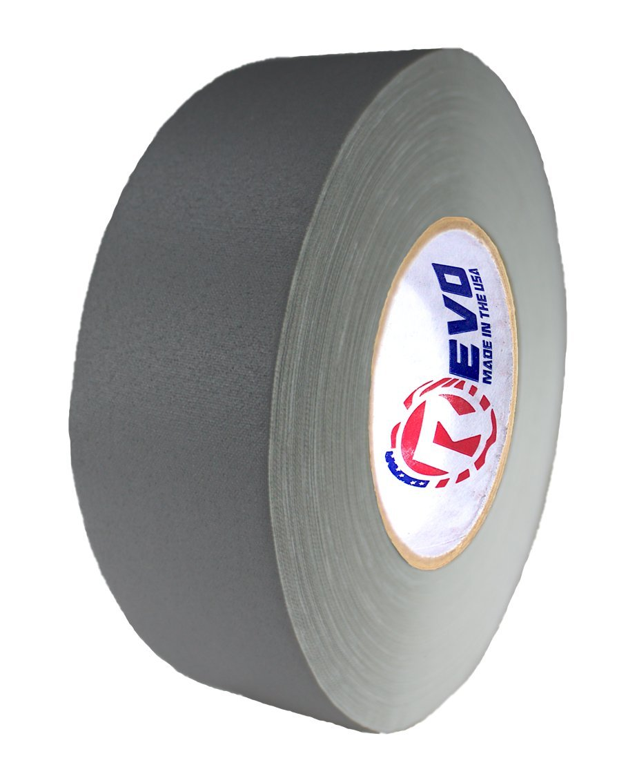 REVO Premium Professional Gaffers Tape (2'' x 60 yds) MADE IN USA (GRAY GAFFERS) Camera Tape- Stage Tape- Better than Duct Tape (Black, Blue, Brown, Gray, Green, Red, White, Yellow) SINGLE ROLL