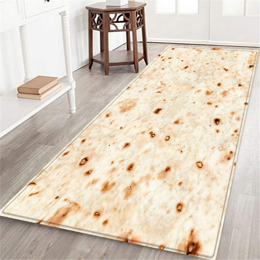 BCDshop Unique Burrito Area Rug Long Floor Mat Rectangle Doormat Indoor Child Play Carpet for Living Bedroom Sofa (D, 2ft X 5.9ft) by BCDshop_Rug Clearance (Image #2)
