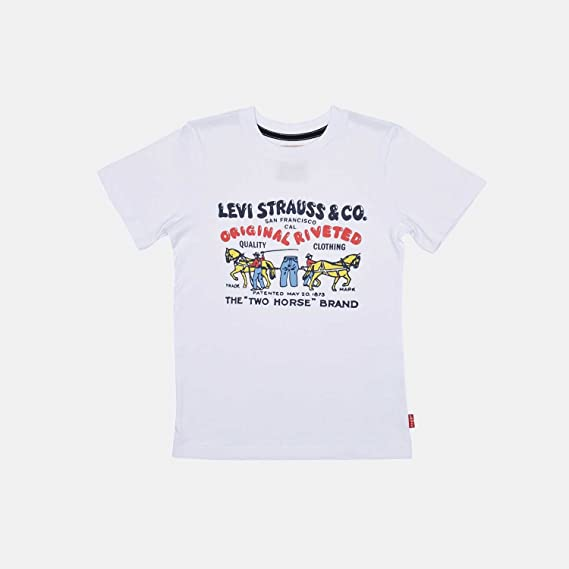 Camiseta Levis Colhors Blanca 2A Blanco: Amazon.es: Ropa y ...