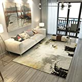 Collapsible Bedroom Bedside Non-slip Carpet Modern Minimalist Abstract Art Sofa Coffee Table Large Carpet ( Color : D , Size : 160cm×230cm )