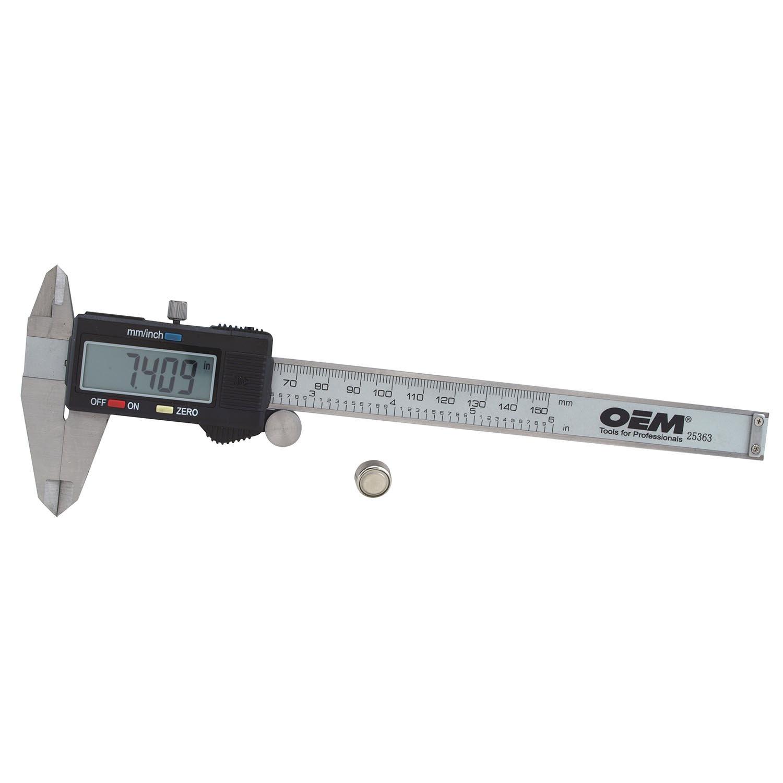 OEMTOOLS 25363  Six Inch Electronic Digital Caliper