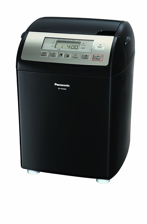 Panasonic SD-YR2500 Bread Maker with Gluten Free Mode and Yeast / Raisin / Nut Dispenser, Black by Panasonic