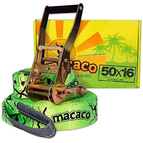 Macaco Slacklines 50 W mm x 16 L m Classic Line by Macaco