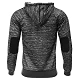 AIRAVATA Mens Hoody Zip Up Long Sleeve Printed Sports Workout Hoodie Sweatshirts
