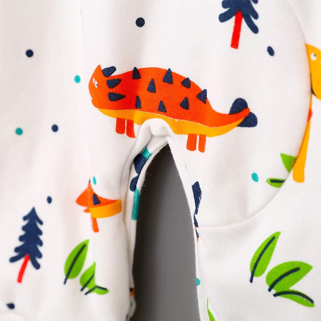 TTLOVE Strampler Bodysuit Neugeborene Baby Jungen,Dinosaurier Druck Spieler Spielanzug Overall Kleidung Outfits mit Langarmshirt,Herbst Schlafanzug Babykleidung