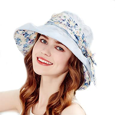 ff69c5689ca Kenmont Women s Real Silk Big Brim Sun Bucket Hat UV Protection Outdoor  Fishing Hiking Beach Cap