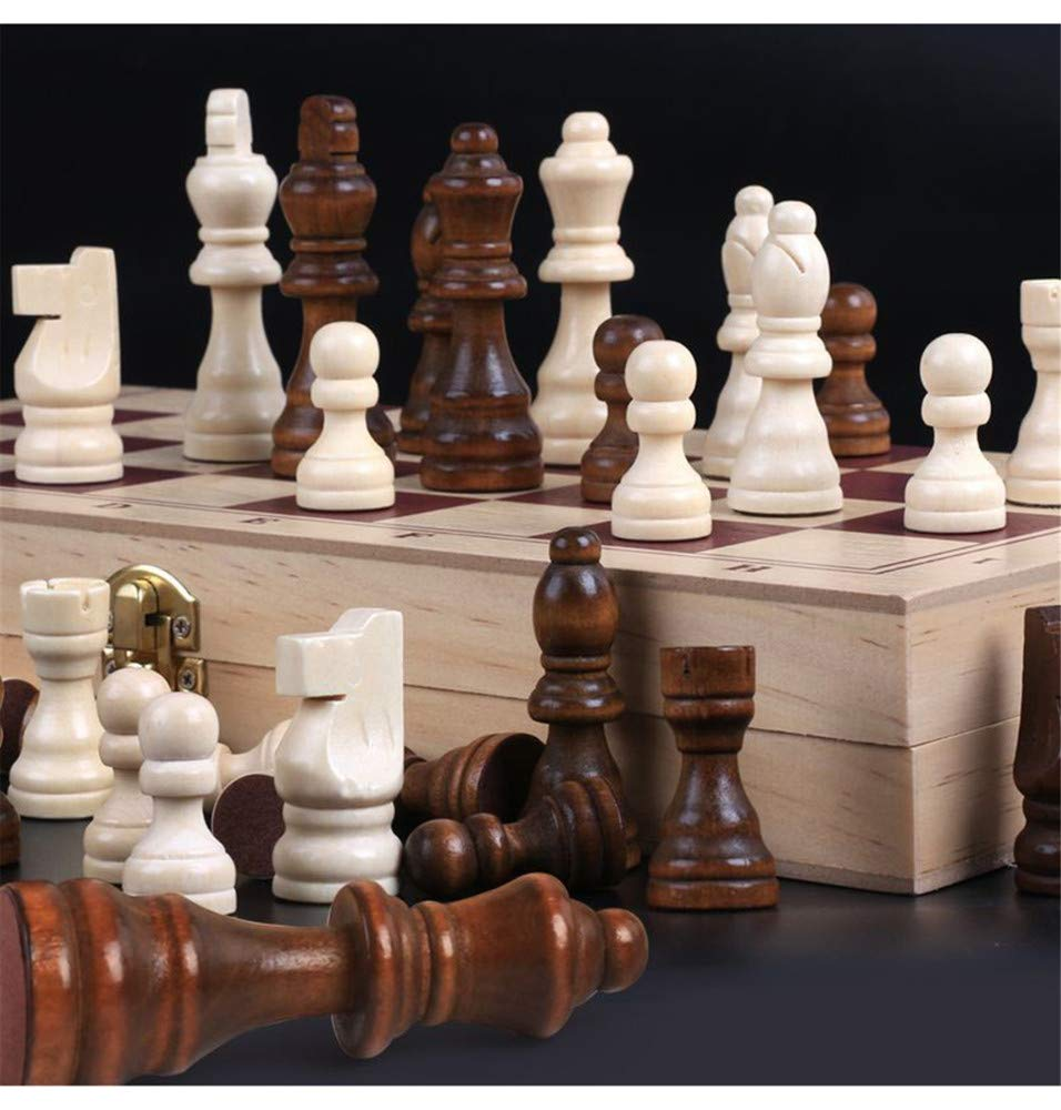International Chess HHXWU Chess Chess Highgrade solid wood Large Puzzle Folding Beginner, Chess