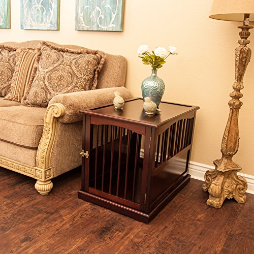 Primetime Petz End Table Kennel, Medium, Walnut