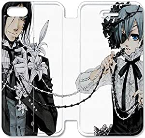 Black Butler-7 iPhone 5 5S Leather Flip Case Protective Cover New Colorful