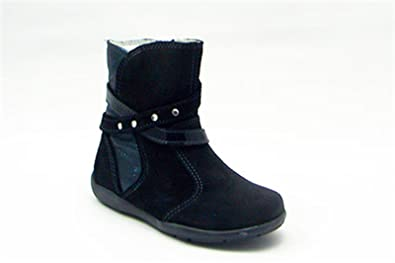 Primigi - Primigi Stivali Bambina Neri Pelle Zip 92300 - Negro, 24
