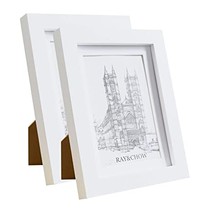 Ray Chow A3 White Picture Frame Solid Wood Glass Window With