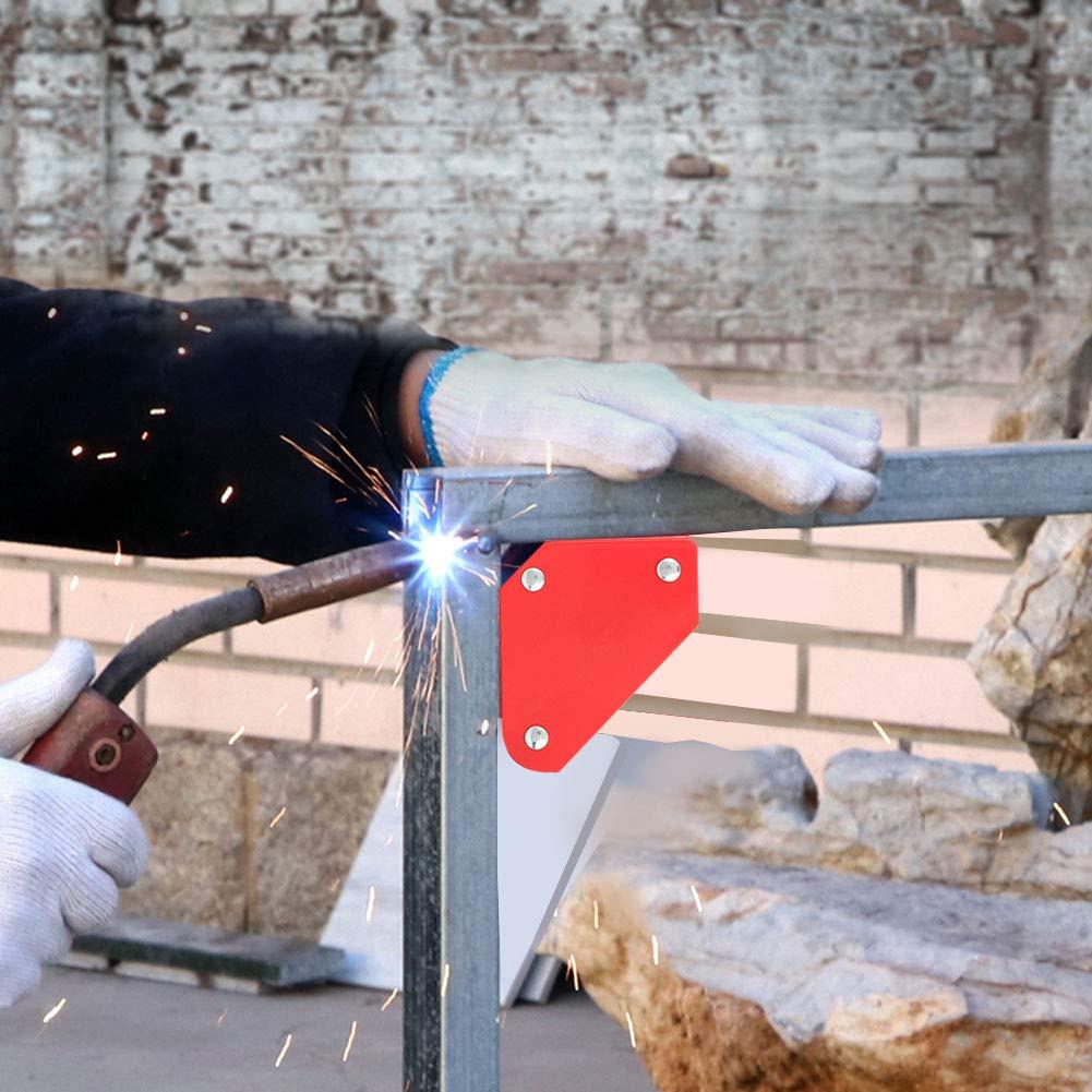 Posizionatore di saldatura a triangolo 4 pezzi 9LB Localizzatore di saldatura ad angolo Magnete magnetico Frecce dangolo Strumento di supporto per saldatore per saldatore da utilizzare come supporto