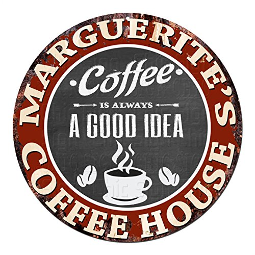 MARGUERITE'S Coffee House Chic Tin Sign Rustic Shabby Vintage style Retro Kitchen Bar Pub Coffee Shop man cave Decor Gift Ideas