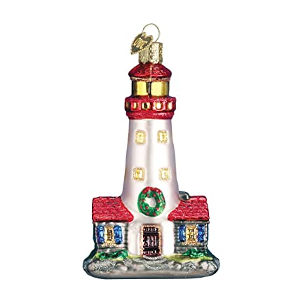 Old World Christmas Ornaments: Lighthouse Glass Blown Ornaments for  Christmas Tree - Amazon.com: Old World Christmas Ornaments: Lighthouse Glass Blown