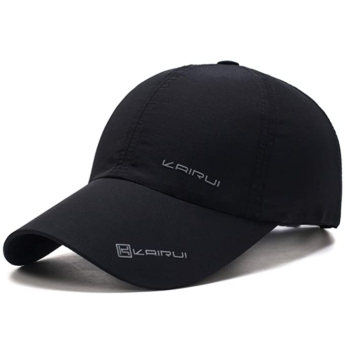 40295a2670287 2019 New Baseball Cap Leisure Sport Cap Summer Quick-Drying Sun Hat Unisex  UV Protection Outdoor Cap Black at Amazon Women s Clothing store