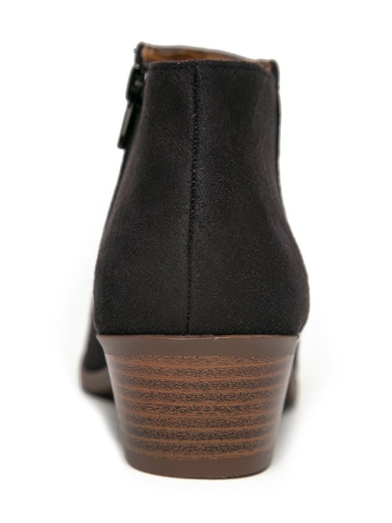 38563502b2bb1 Soda Womens Western Ankle Bootie w Low Chunky Block Stacked Heel Mug
