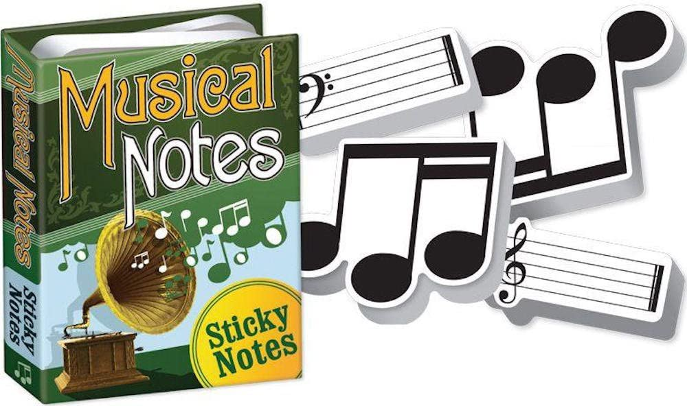 Musical Notes - Sheet Music Themed Sticky Notes Booklet