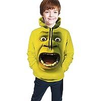 Sadie Mae Sh-rek Hoodie Funny Novelty 3D Print Sweatshirt Kids' Pullover Hooded Youth Cartoons Cool Long Sleeve…