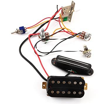 Außerhalb E-Gitarre Verkabelung Twin Tonabnehmer Coil Kit mit ...