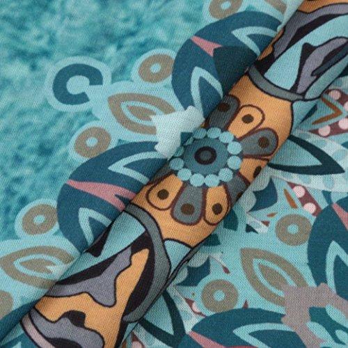 Vestidos 2018 playa mangas sin Mujer bohemio Mujer floral I de fiesta la Verano XL D LMMVP Maxi Vintage vestido de noche rXwraqE
