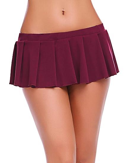wearella - Mini Falda Sexy Plisada para Mujer: Amazon.es: Ropa y ...