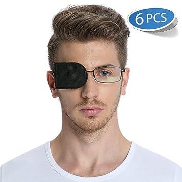 79dd9cb7e111 FCAROLYN 6pcs Eye Patch for Glasses to Treat Lazy Eye/Amblyopia/Strabismus  (Black
