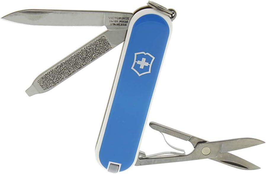 Victorinox - Classic Azul Hielo - Navaja Suiza de Bolsillo - 58 mm - 7 Funciones: Amazon.es: Deportes y aire libre