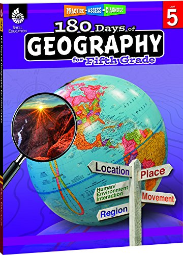 180 Days of Social Studies: Grade 5 - Daily Geography Workbook for Classroom and Home, Cool and Fun Practice, Elementary School Level Activities ... Build Skills (180 Days of Practice, Level 5)