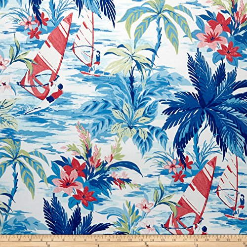 Tommy Bahama Azul Outdoor Wind Surfers Fabric by The Yard