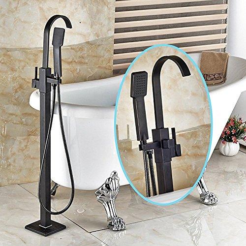 Senlesen Floor Mount Single Handle Bathtub Mixer Faucet Free Standing with Handheld Shower Tub F ...