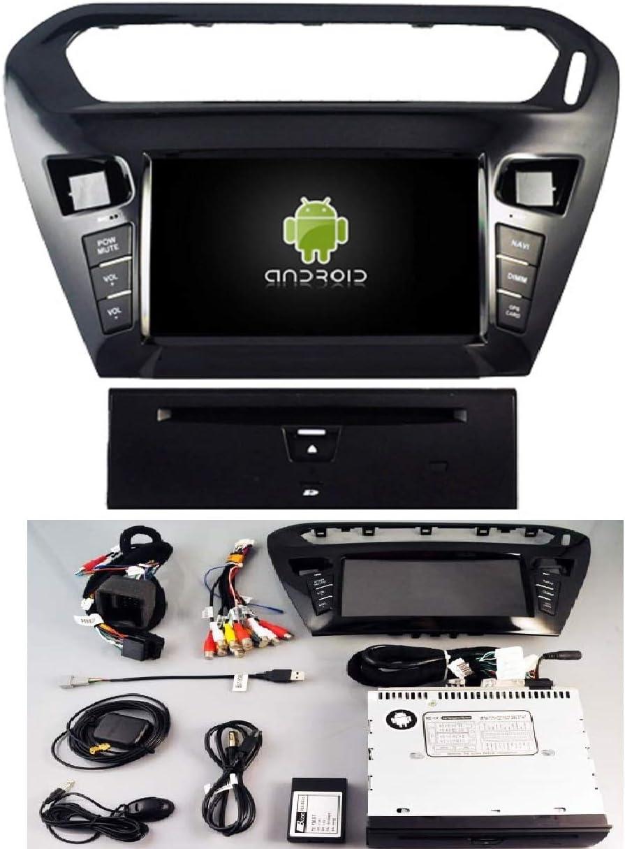 ZNSH Radio del Coche para Peugeot 301 Citroen Elysee 2014-2018 Android 8.0 HD 9 Pulgadas Soporte de navegaci/ón GPS 4G e Internet WiFi Equipado con una CPU Quad Core de 1.2 GHz,WiFi:1+16g