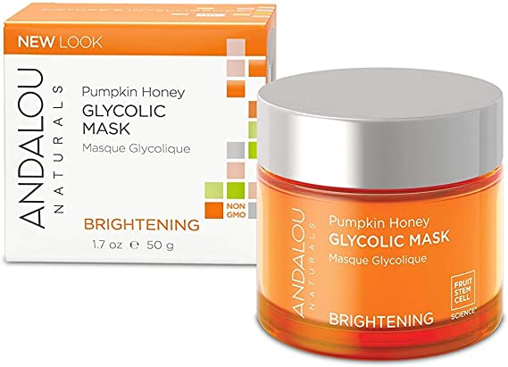 Andalou Naturals Glycolic Brightening Mask With Pumpkin Honey - 1.7, Oz