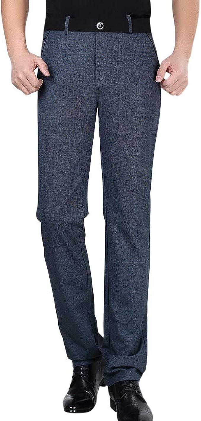 Plaid/&Plain Mens Stretch Dress Pants Slim Fit Skinny Suit Pants